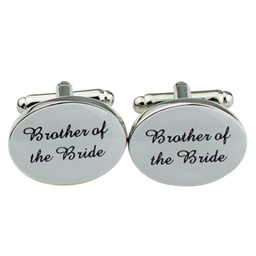 One Pair Of Mens Silver Wedding Best Men Usher Groom Cufflinks