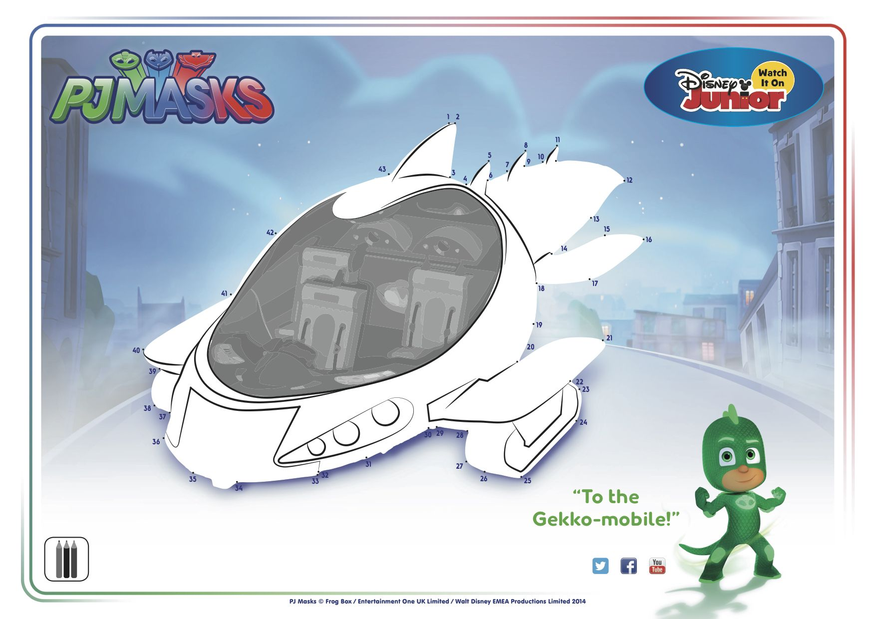 To The Gekko Mobile Pjmasks Gekko Disneyjunior