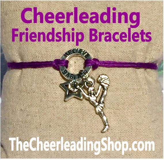 Do you love Friendship Bracelets too? We are LOVING these Cheerleading Themed ones that come in 7 colors! These are perfect for yourself and your teammate - check them all out at TheCheerleadingShop.com