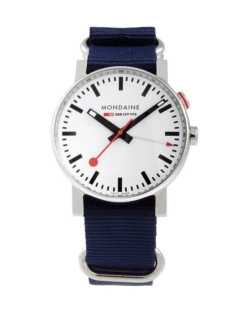 Mondaine Evo Alarm Limited Edition Blue Quartz Analog Men's Watch A468.30352.11SND