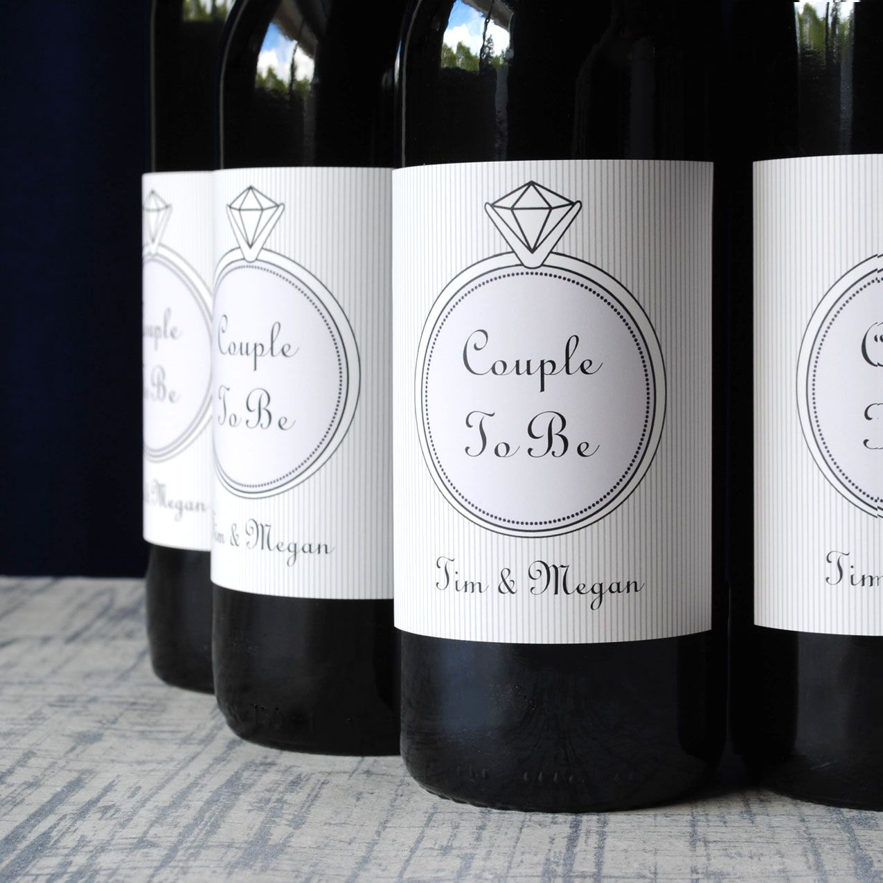 Engagement party wine favors. Personalize wine labels online for the ...