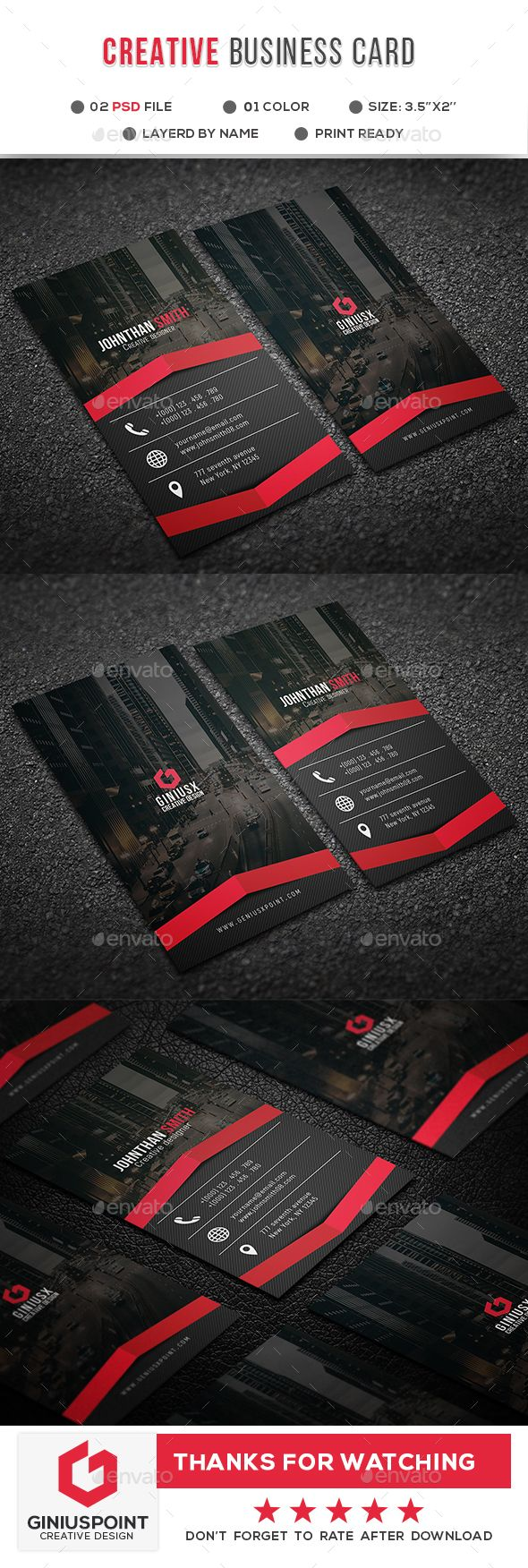 Creative Business Card | Pinterest | Tarjetas, Tarjetas de ...