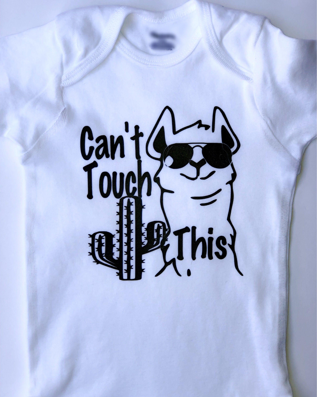 8df4c574e Can't Touch This Llama Cactus Shirt, kids shirt with sayings, toddler shirt,  vinyl