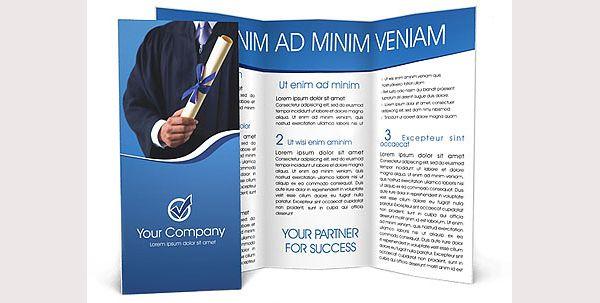 Brosur Sekolah Diploma Brochure Template Contoh Brosur Sekolah