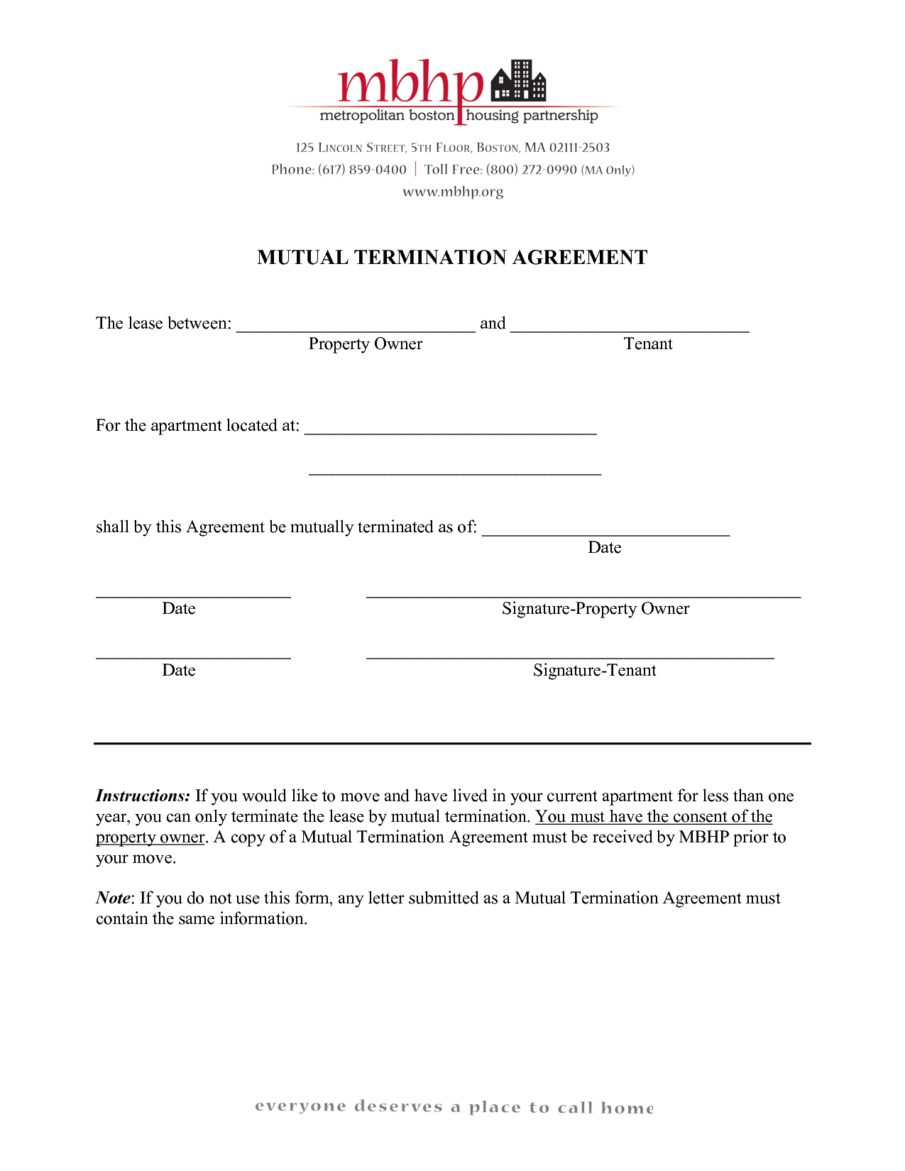 Agreement Form Mutual Termination Letter And Employment  Home