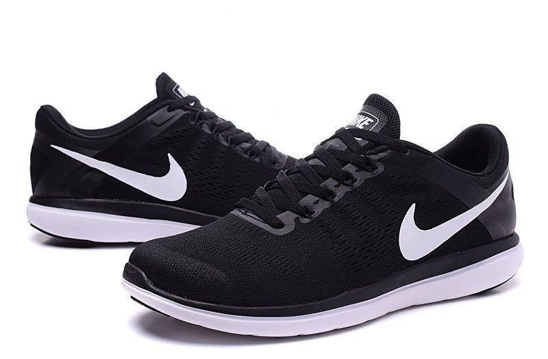 399bd5bac45 Nike Flex 2016 RN BLACK WHITE 830369-001 MEN SHOES RUNNING J ...