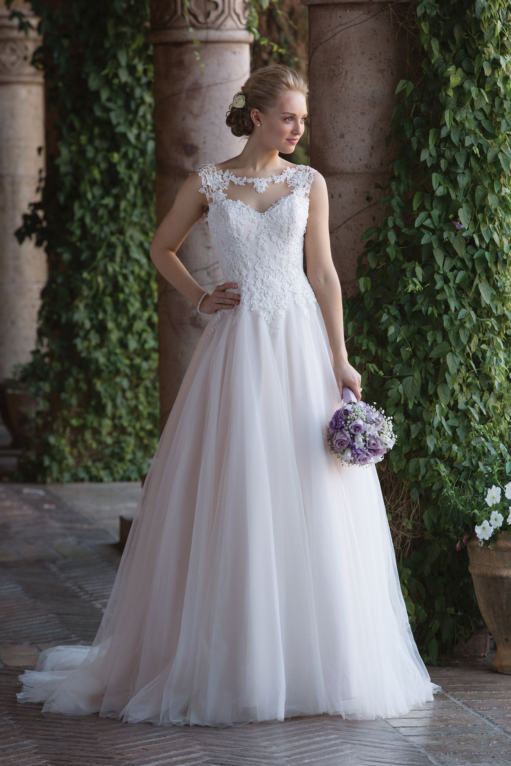 Tulle Ball Gown with Basque Waist STYLE Justin Alexander