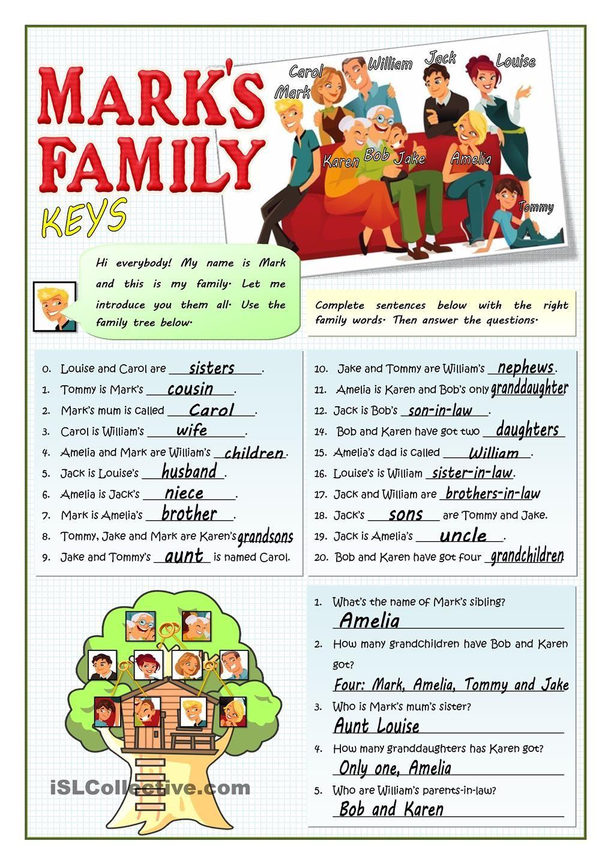 Marks Family Education Pinterest Worksheets Grammar Practice