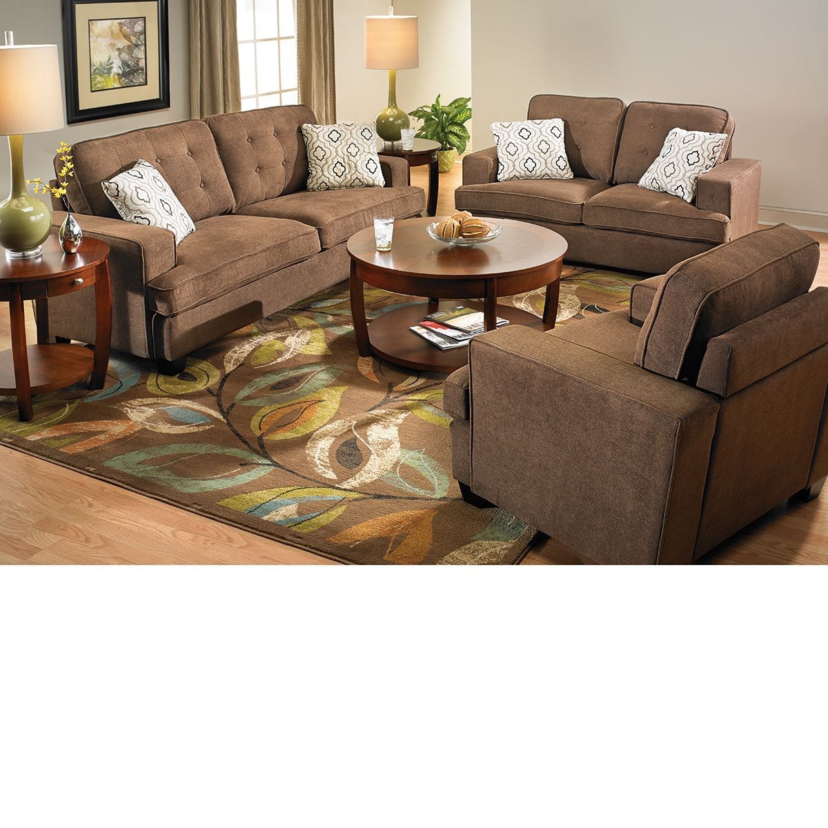Fabric Closeout: 3 Piece Sofa Group