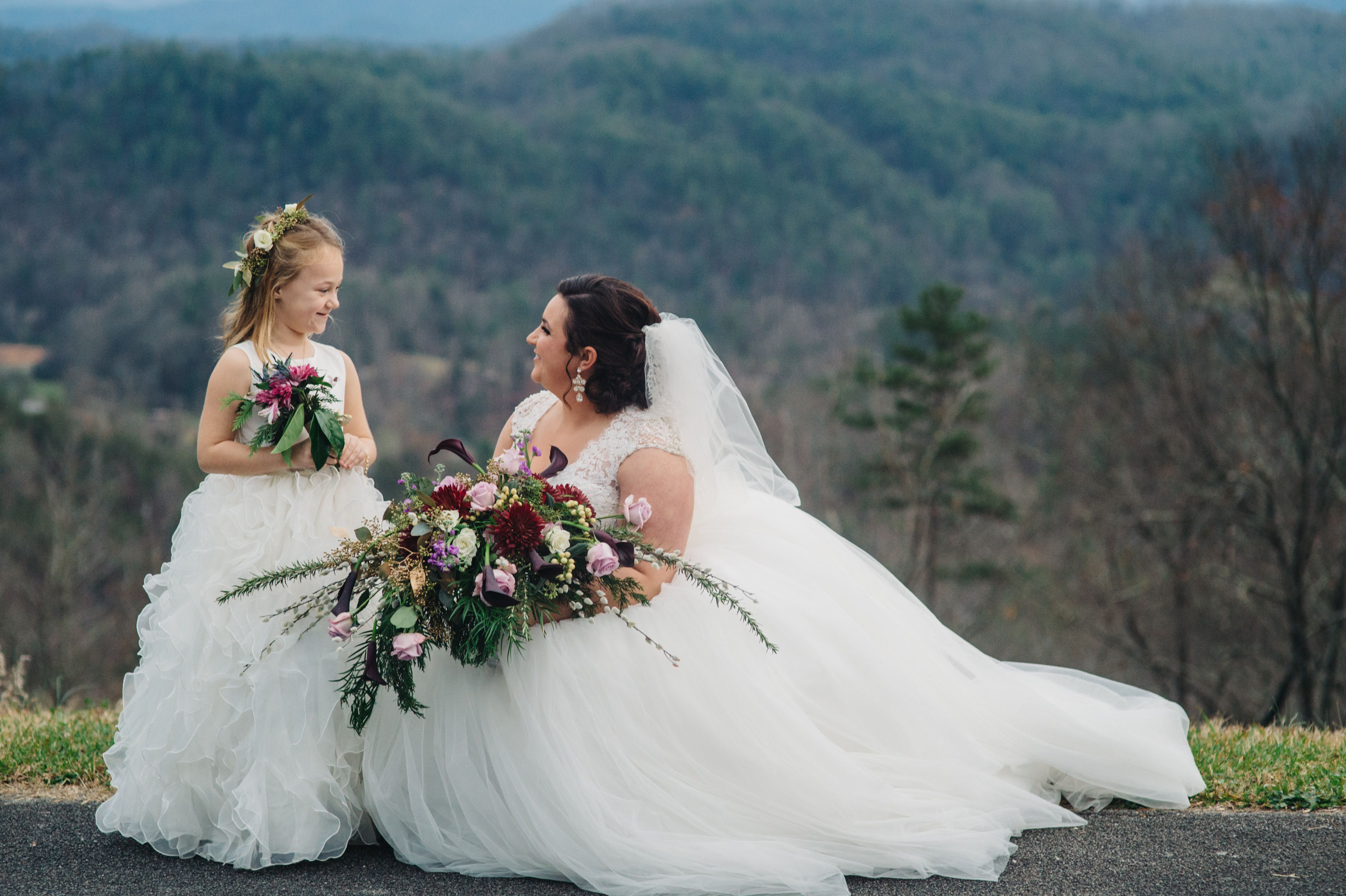 Dresses for a winter wedding reception  Enchanting Mountain Wedding  Barn Winter wedding receptions and