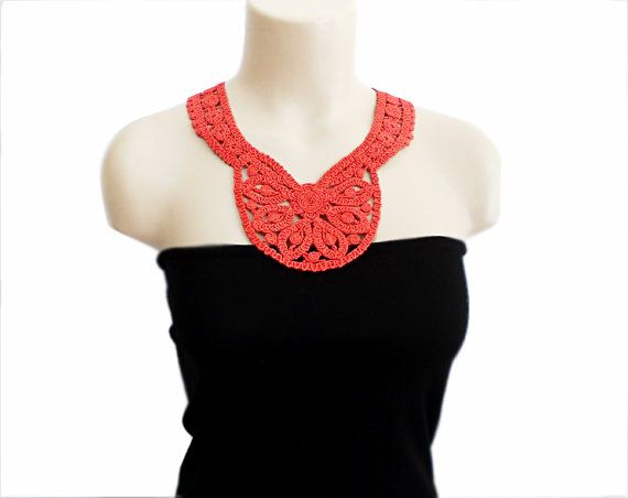 Colorful Crochet Lace Necklace Pattern Adornment Easy Scarf