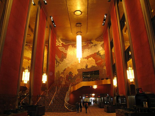 When donald deskey was competing to be the interior designer of radio city music hall he felt so passionately about the new art deco style that he