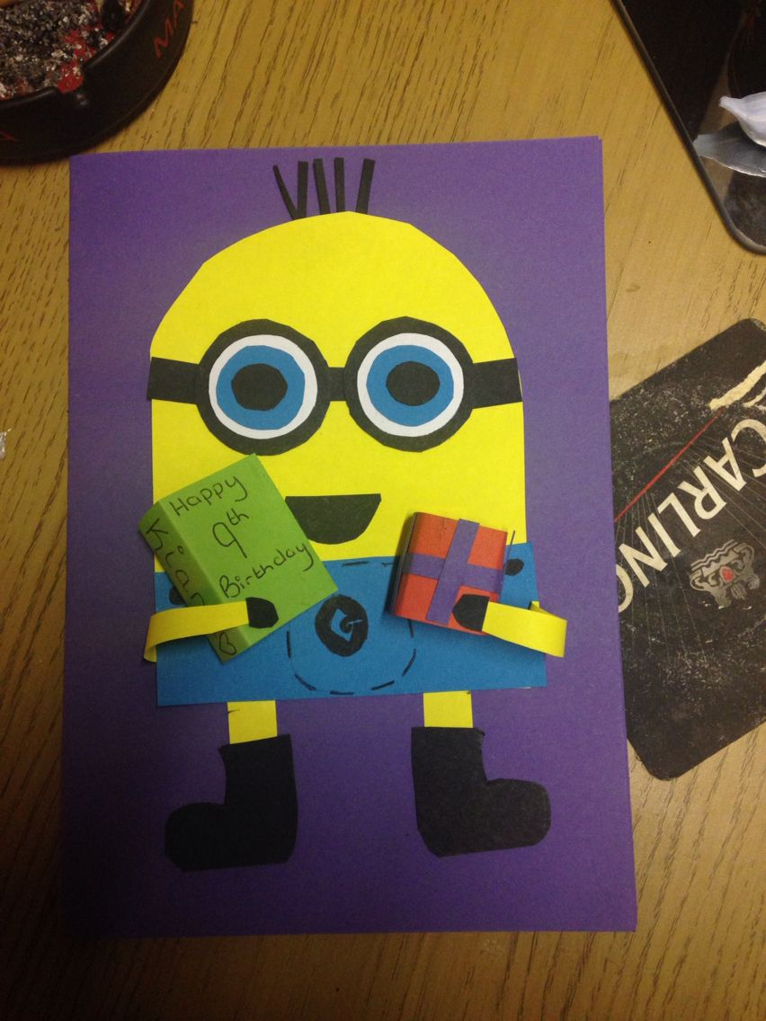 Made A Minion Birthday Card For My Little Sister My Bits Bobs