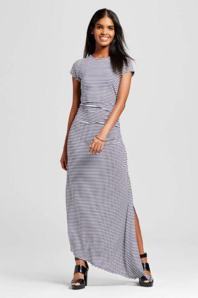 227dac2254f Target Ruched T-Shirt Maxi Dress Maxi Shirt Dress
