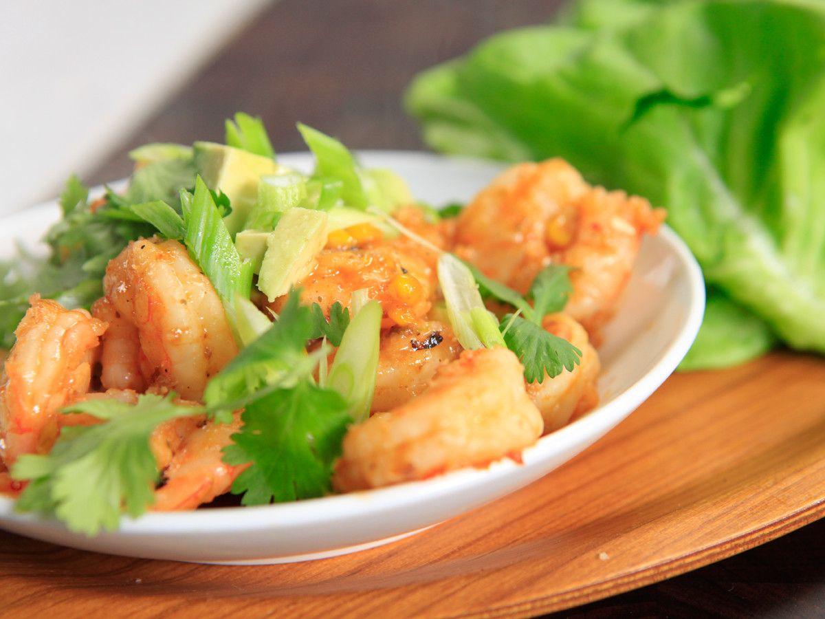 Sweet n' Spicy Shrimp Lettuce Tacos