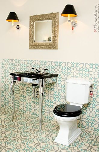 Oban Stand With Black Washbasin Astoria Deco Toilet By Imperial Bathrooms