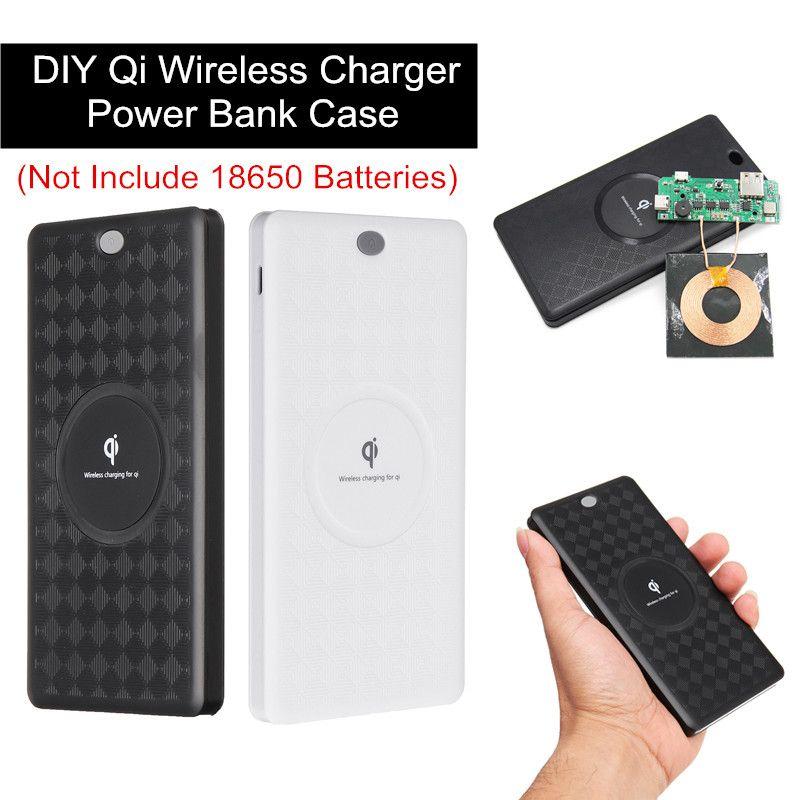 Diy qi wireless charger power bank case battery box kit