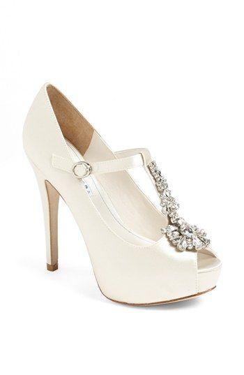 David Tutera Fantasy T Strap Pump Nordstrom Elegant Wedding Shoes Bridal Shoes Wedding Shoes