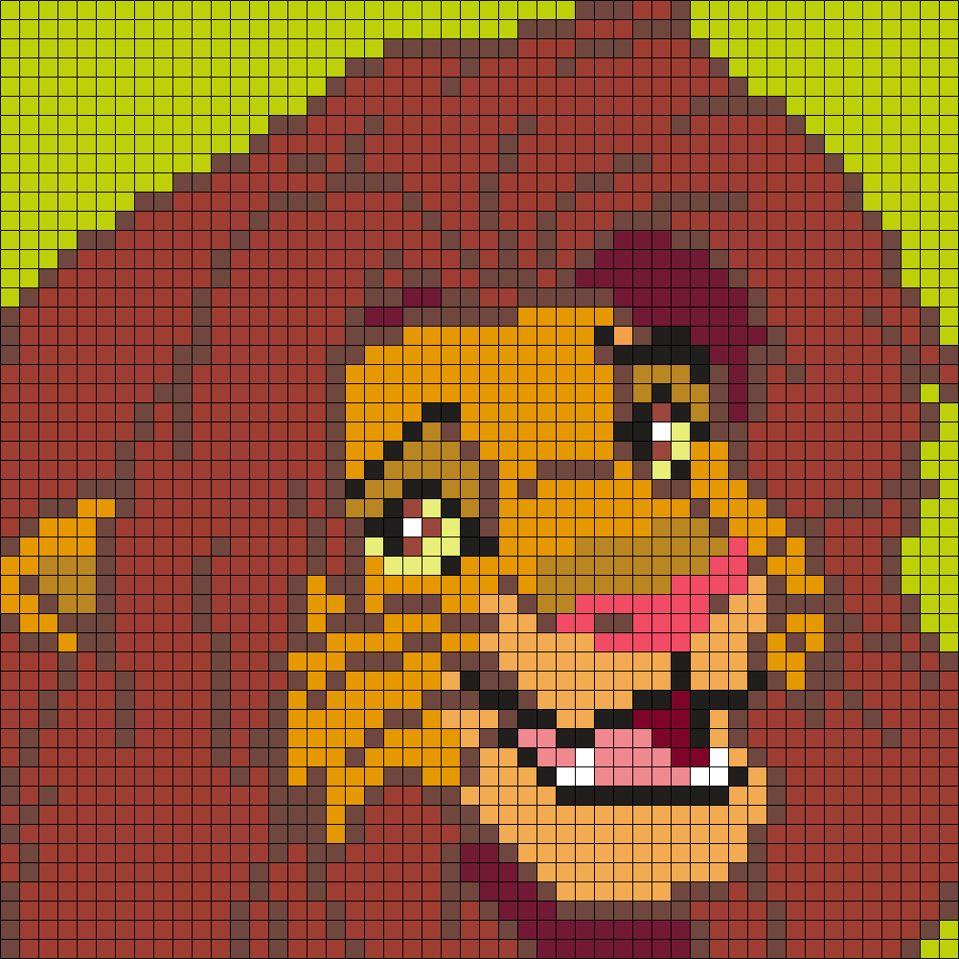 Adult Simba from The Lion King (Square Grid Pattern) | yarn ...
