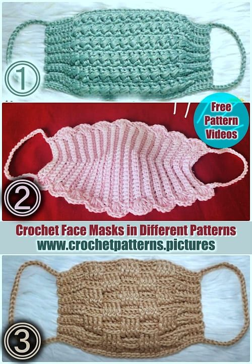 Photo of Very Easy to Make 3 Crochet Face Masks | Free Pattern Videos | English Subtitle
