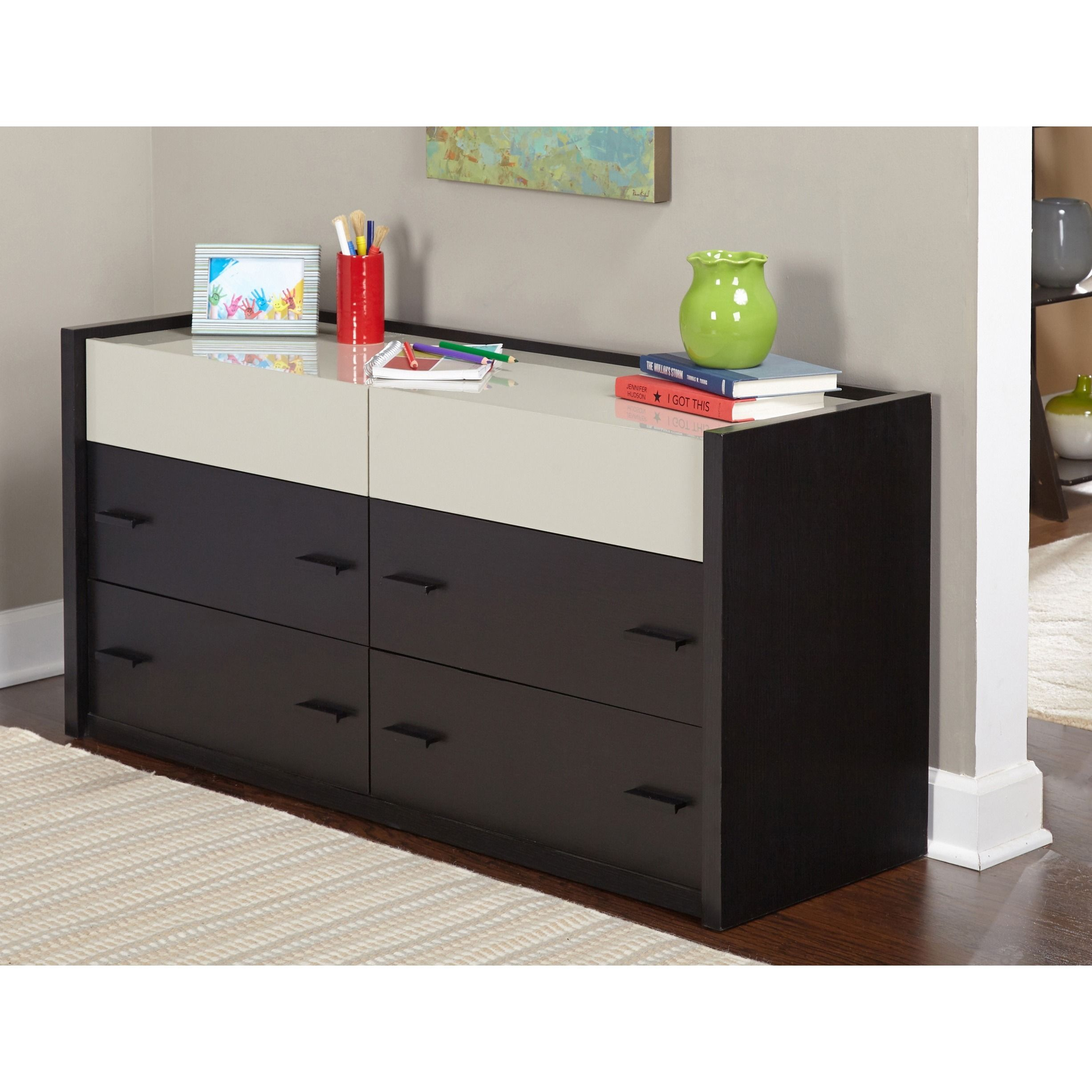 The simple living adela dresser features a twotoned finish that