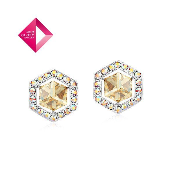 Aliexpress.com : Buy Neoglory Jewelry with swarovski element crystal stud Earrings women earring platinum plated from Reliable earrings suppliers on NEOGLORY JEWELRY