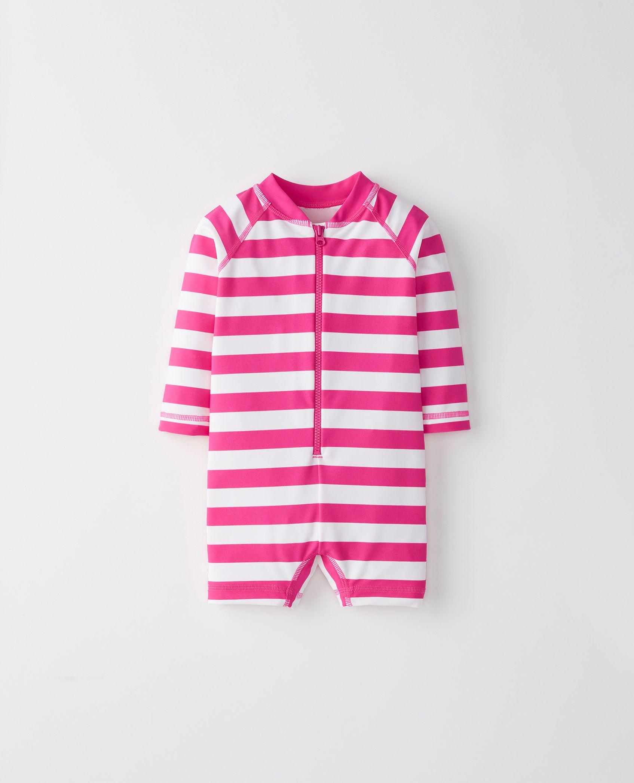 New Baby Girl Beach One-Piece Swimsuit Sun Protective Sunsuit Rash Guard