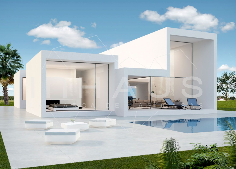 Villa de lujo dise o javea inhaus vista piscina jardin - Diseno de jardines para casas ...
