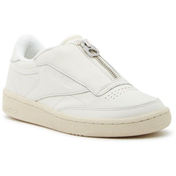 816162a4ae1c9 Reebok Club C 85 Zip Sneaker (160 BRL) ❤ liked on Polyvore featuring shoes