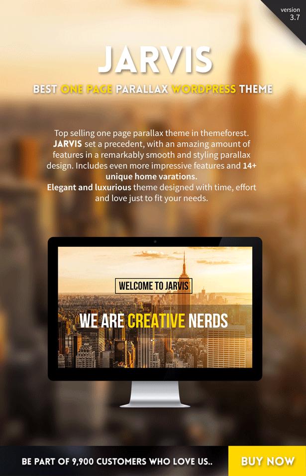 jarvis onepage parallax wordpress theme wordpress and template