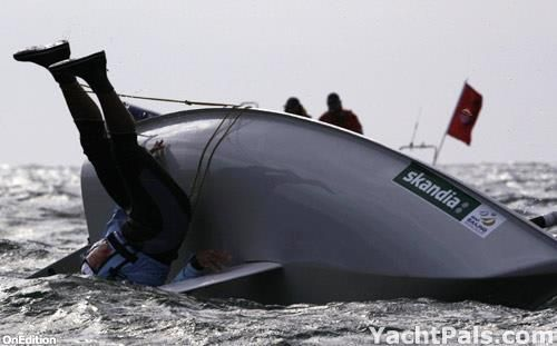 That awkward moment when you T-Bag off your boat and come up wondering what happened...