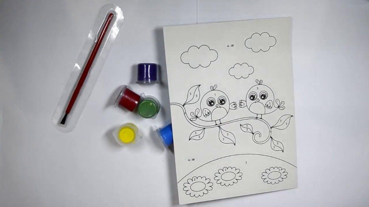 УЧИМ ЦВЕТА раскраски птиц СВИНКА ПЕППА видео для детей ...