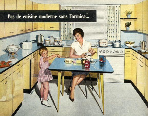 Publicite Pour Une Cuisine En Formica En 1959 Cuisine Formica Cuisine Moderne Cuisine