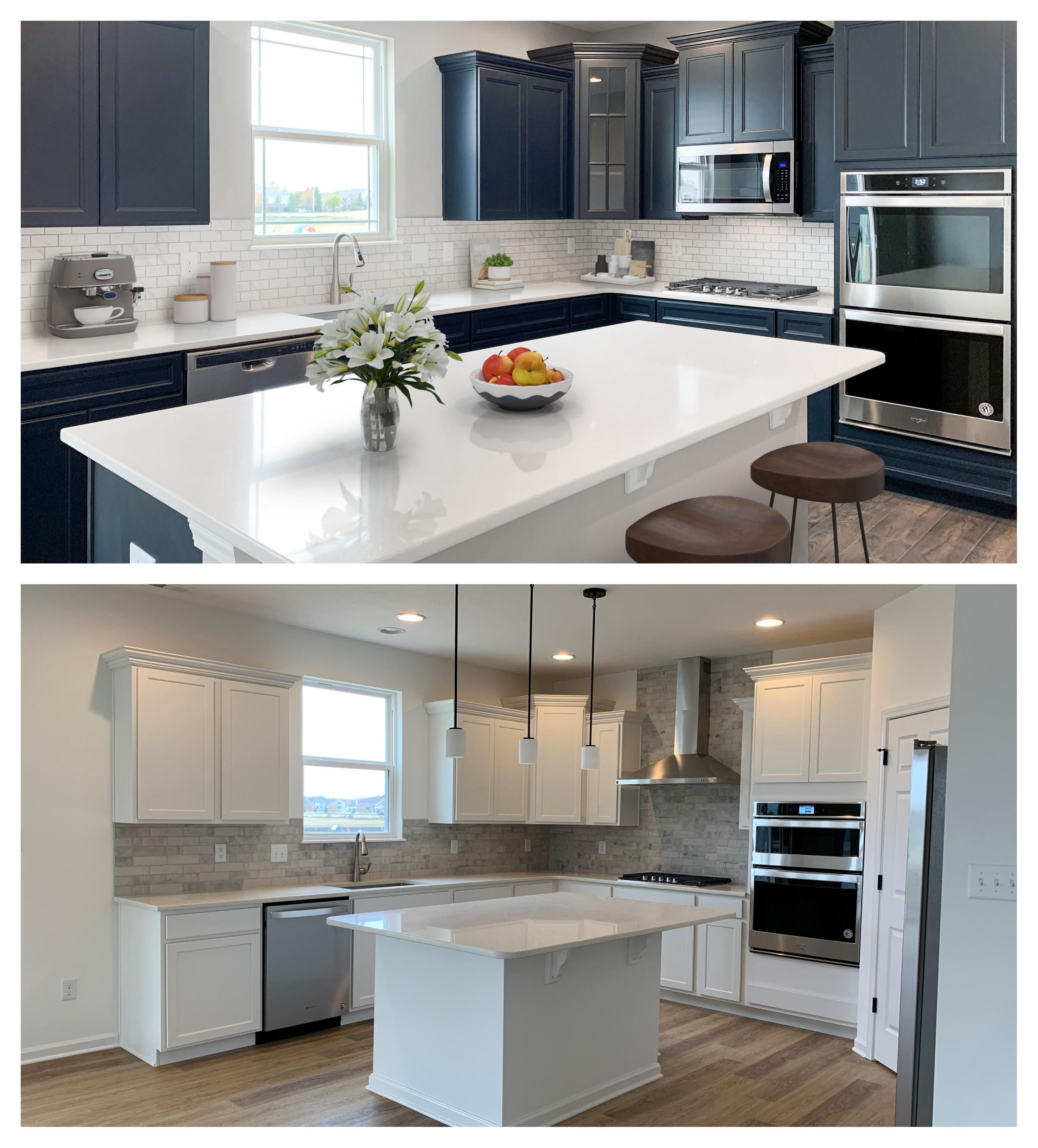 Which Kitchen Cabinets Do You Prefer Both Are Available To New Homeowners At West Rail At The Station In Westfield In In 2020 New Homeowner Kitchen Station