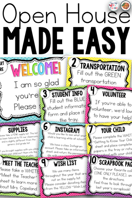 Stations will make your open house or meet the teacher event a structured, well-managed time, and make a great first impression on parents for back to school! #meettheteachernight