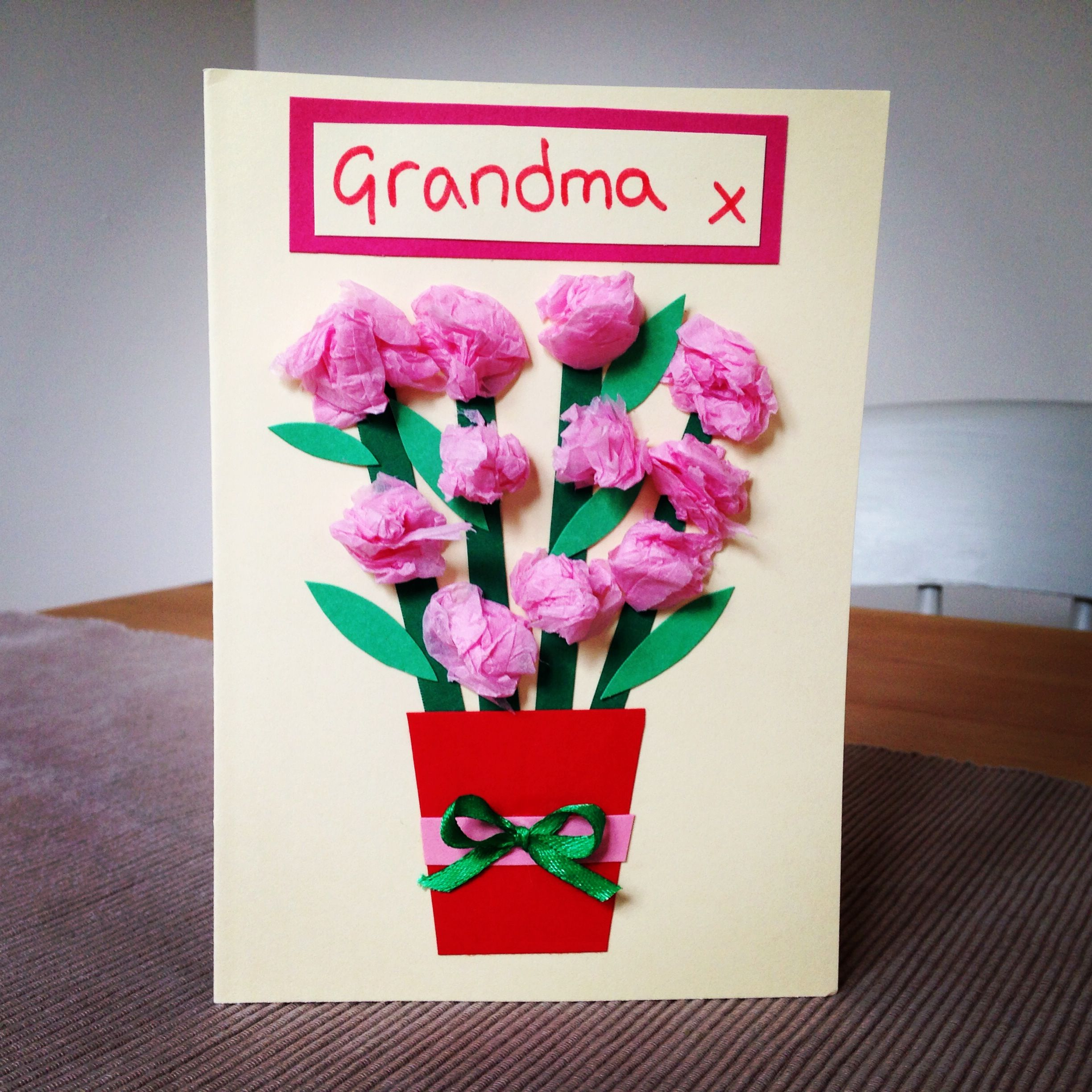 mother's day card making  grandma birthday card mother's