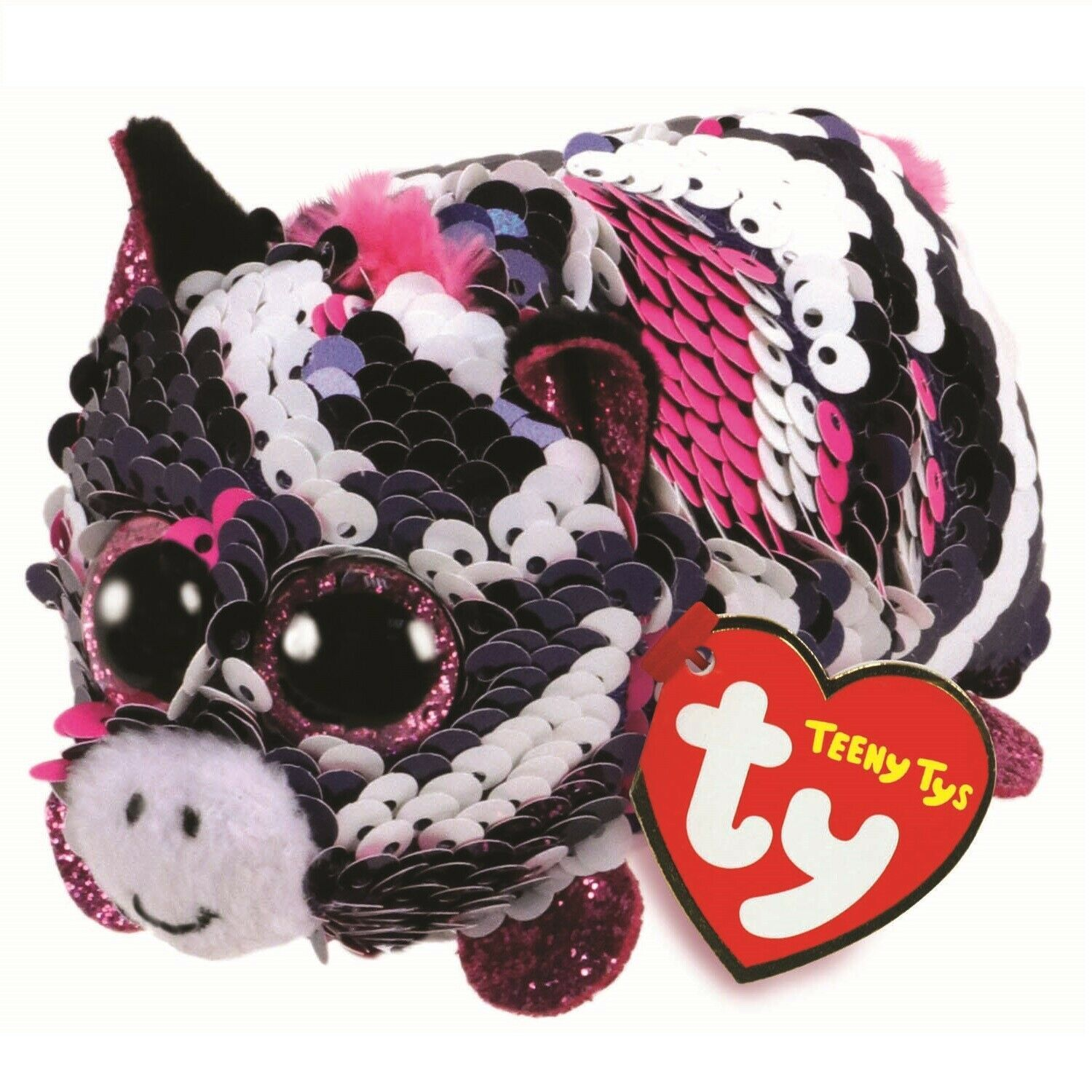 """New TY BEANIE BOO/'S COLLECTION LALA Lamb Plush toy Glittery Green Eyes 9/"""" Tall"""