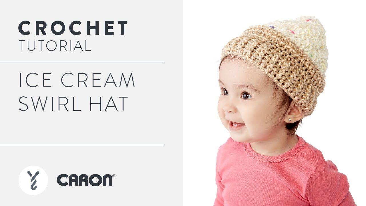 How to Crochet the Ice Cream Swirl Hat - YouTube   Háčkování pro ...