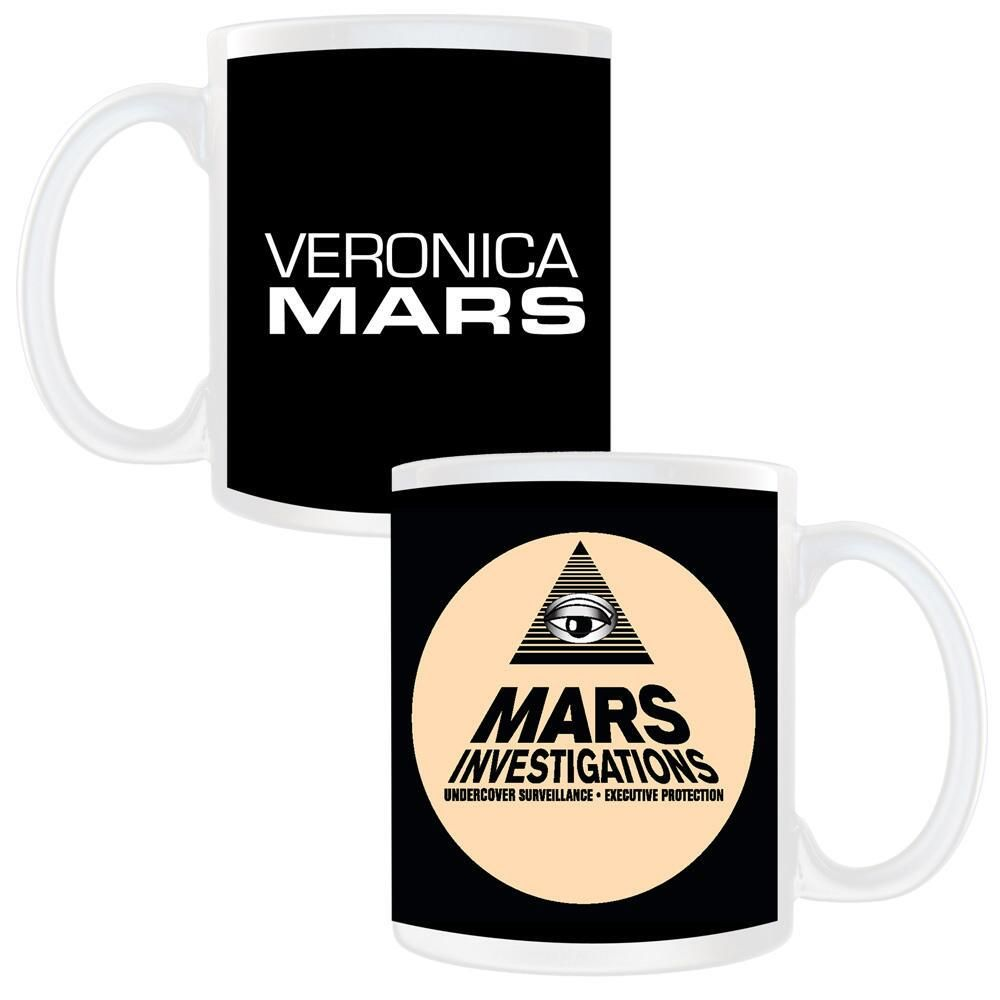 This Veronica Mars mug features the Mars Investigations logo on a black and cream background. This white ceramic mug holds…