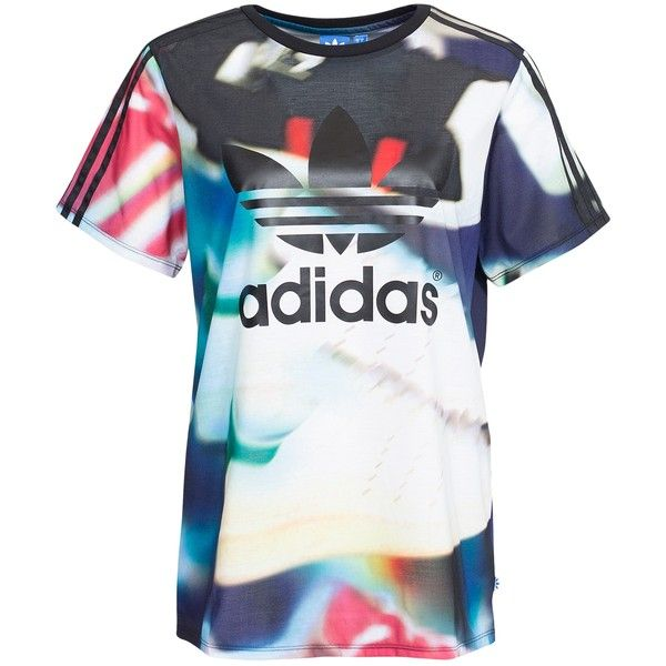 141d708c Adidas Originals Aop Bf Tee (49 AUD) ❤ liked on Polyvore featuring tops, t-shirts,  multicolour, womens-fashion, pattern t shirt, print t shirts, ...