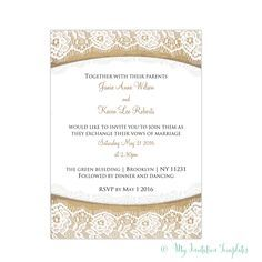 rustic burlap and lace wedding invitations template sarah and