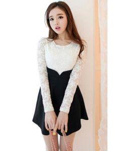 Vestidos manga larga moda asiatica