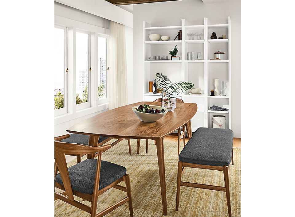 Ventura Table With Evan Bench Chairs Room Board Modern