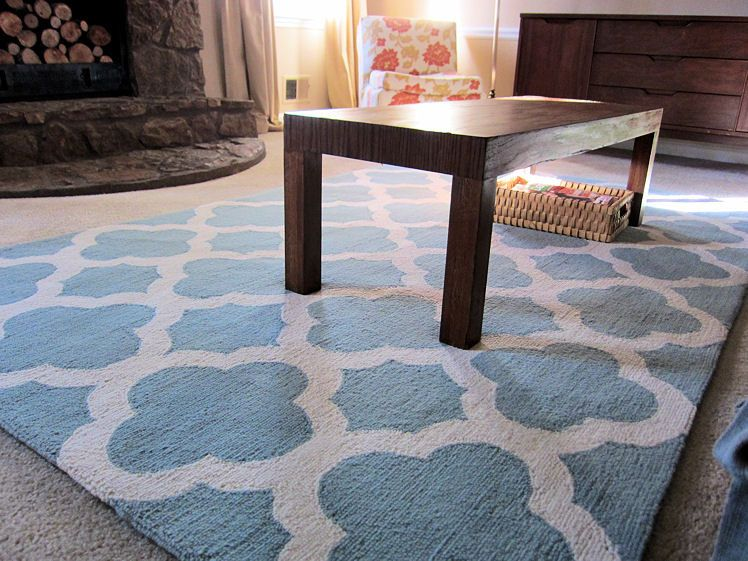 Life Blessons An Easy Makeover Updating Our Living Room With A New Area Rug