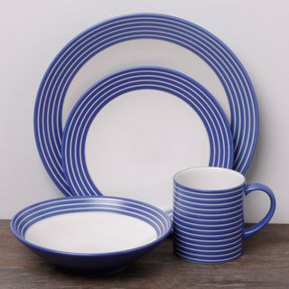 Casual dinnerware & Denby Intro Stripes Blue 16-piece Dinnerware Set $47 #denbylovesblue ...