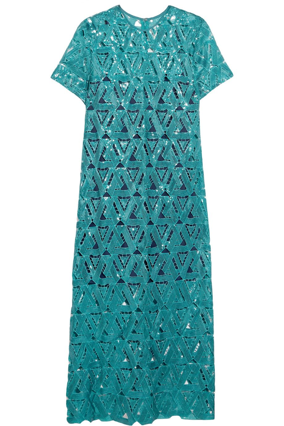 SELF-PORTRAIT Sequin-Embellished Mesh Dress. #self-portrait #cloth #dress