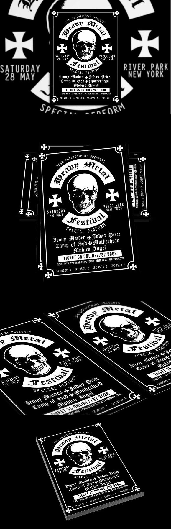 Heavy Metal Festival Poster Flyer Flyer Templates  Flyer