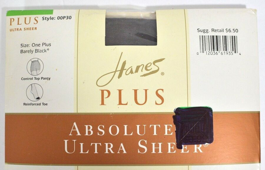 e1806e9371afc Hanes One Plus Absolutely Ultra Sheer Pantyhose Barely Black Hosiery NEW  OOP30 12036619354 eBay#Sheer#Pantyhose#Ultra