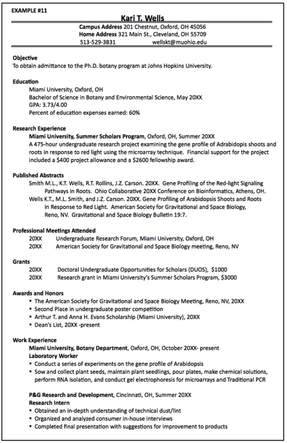 Sample Phd Resumes Examples Resume Cv