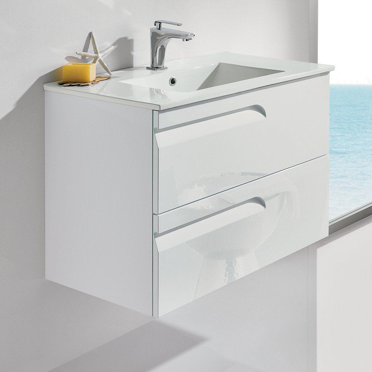 Royo Vitale Premium Bathroom Wall-hung Vanity - Cabinet and Sink 24 ...